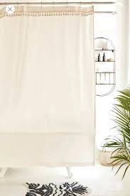 urban outfitters shower curtain urban outfitters washed cotton tassel off white fringed bohemian shower curtain urban
