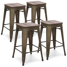 wooden seat bar stools. 24\ Wooden Seat Bar Stools I