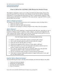 rhetorical essay format madrat co rhetorical essay format