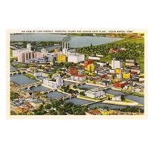 Walmart Cedar Rapids Iowa Aerial View Quaker Oats Plant Cedar Rapids Iowa Print Wall Art