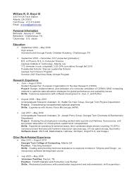 Resume Undergraduate Enchanting CV