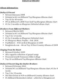 Dailey Vincent Album Information Pdf
