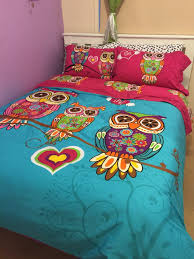 owl comforter set king 3 4pcs twin single kids bedding queen size 18