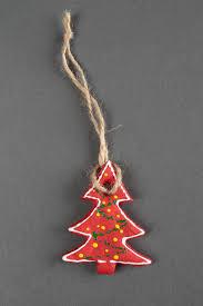 Salzteig Figur Handmade Tannenbaum Schmuck Bemalte Deko Für Weihnachten