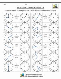 Telling Time Clock Worksheets To 5 Minutes Adding And Subtracting ...