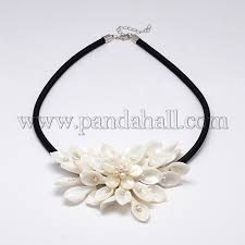 calla lily flower pearl pendant necklaces njew n0014 38 1
