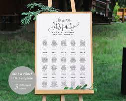Printer Spacing Chart Template Wedding Seating Chart Template Seating Chart Printable