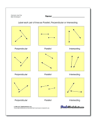 parallel and perpendicular lines worksheets worksheet answers 4 writing equations