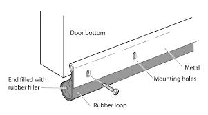 door sweep soundproofing
