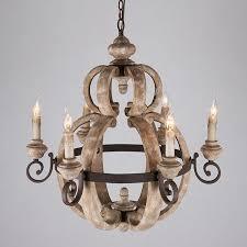 details about retro 6 candle light wood metal vintage chandelier ceiling lamp pendant fixture