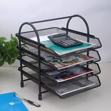 4 tier doent letter paper file tray sorter collection office stationery desktop organizer holder shelf