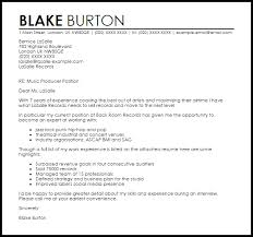 Gallery Of Music Cover Letter