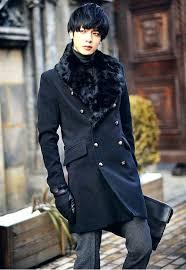 fur trench coat mens faux fur coats long trench coat collar leather mens fur trench coat