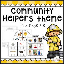 Our Community Helpers Chart Community Helpers Theme Pack For Pre K K