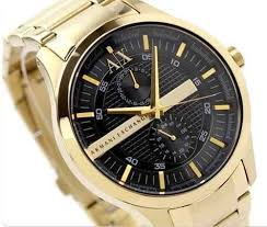 17 best images about gold black black gold watch resonate armani exchange ax1272 wrist watch for men