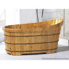 Wooden Bathtub Cp Wd Sl57 Woodenslippertub57jpg