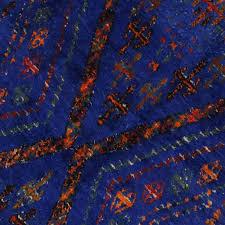 20162 vintage beni ourain moroccan rug cobalt blue berber moroccan tribal rug transform your