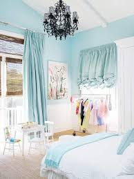 shab chic bedroom ideas with pale blue curtain and white bed using within size 768 x