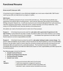 Sample Of Chronological Resume Format Free Template Functional