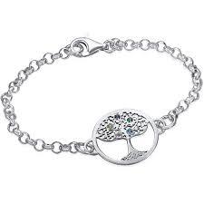 family tree bracelet with birthstones