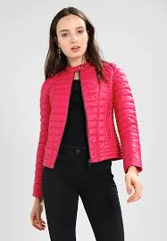 guess vona faux leather jacket women clothing jackets candy apple pink