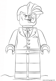 Small Picture lego batman two face Coloring pages Printable