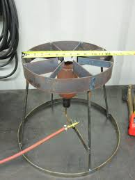 homemade fish fryer style burner and stand