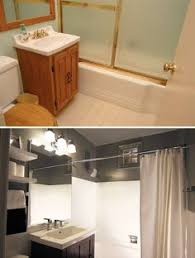cheap bathroom makeover. Interesting Makeover Before And After On Cheap Bathroom Upgrade Intended Cheap Bathroom Makeover H