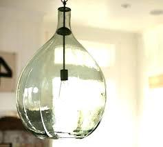 seeded glass pendant new lighting oversized pottery barn lights light fixtures clear shade e48