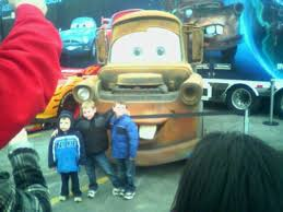 cars 2 lightning mcqueen mater finn mcmissile race into st louis on state farm s agents on a mission tour we are geeks