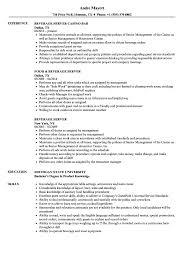 Beverage Server Sample Resume Beverage Server Resume Samples Velvet Jobs 10