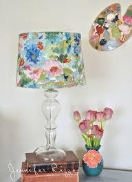 painted lamp shade lampshades dutchglow org 7