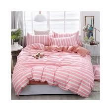 4pcs pink strawberry kawaii bedding set