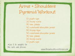 arms and shoulders pyramid workout