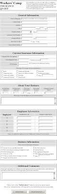agent workers compensation quote form