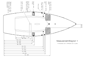 international laser 2 class association measurement diagram