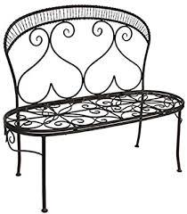 Metal <b>Dark Brown</b> 115 cm wide metal garden <b>bench</b> seat <b>2 seater</b> ...