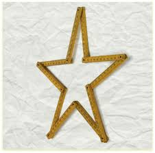 Metal Star Wall Decor Star Shaped Ruler Wall Decor Laundry Shoppe