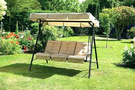 large patio swing with canopy garden chair outdoor furniture metal