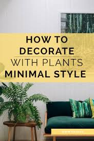 HOW TO DECORATE WITH PLANTS  MINIMAL STYLE
