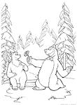 Игры для детей раскраски онлайн маша и медведь