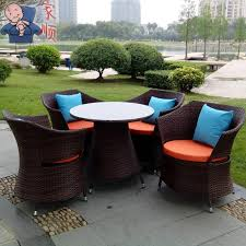 R Bamboo Wicker Chair Chill Out Terrace Cafe Table And Chairs Combo  Kit Rattan Coffee Outdoor Furniturin Beach Chairs From