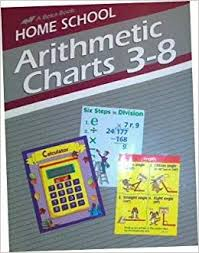 Home School Arithmetic Charts And Games 3 8 A Beka Book