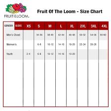 Fruit Of The Loom Sweatshirt Size Chart Fruit Of The Loom Shirt Size Chart Arts Arts