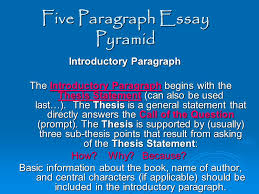 five paragraph essay pyramid ppt video online five paragraph essay pyramid