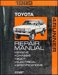 1989 toyota 4runner wiring diagram manual original 1989 toyota 4runner repair shop manual original