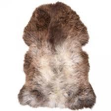 british premium quality large rare breed sheepskin rug in natural dark shade