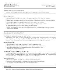 Server Resume Skills Beauteous Resume Sample For Restaurant Server Sample Of Restaurant Resume