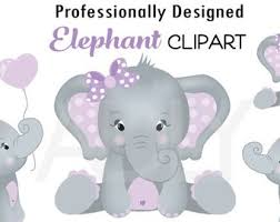 cute elephant clipart. Contemporary Clipart Cute Elephant Clip Art Baby Girl Purple And Gray Peanut Clip Png  File Nursery Showerbirthday Instant Download Commercial Throughout Clipart T