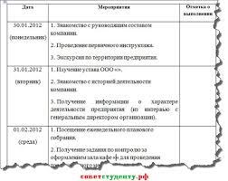 Как написать отчёт по практике Часть  Пример дневника практики